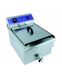 Friteuse électrique à poser avec robinet capacité 12 litres