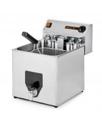 Friteuse électrique à poser triphasé  avec robinet de vidange