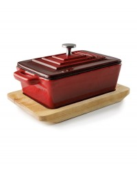 PLAT MAGMA A/COUVERCLE RED 13X9CM