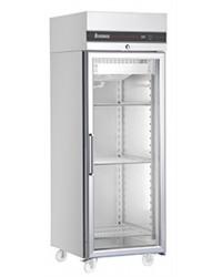 Armoire froide GN2/1 - Vitrée froid ventilé -2 à + 08 °C - 654 L - 1 porte vitrée -720x905x2095 mm - 230 V mono - Sur roule