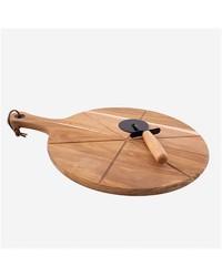 Planche de présentation et roulette à pizza
